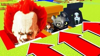 Do Not ENTER THE WRONG SECRET BASE!(PENNYWISE, HOW TO TRAIN YOUR DRAGON, SLENDRINA)(XboxOne/PE/MCPE)