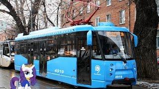 Поездка на трамвае 71-153.3 (ЛМ-2008) № 4919 Маршрут № 43 Москва