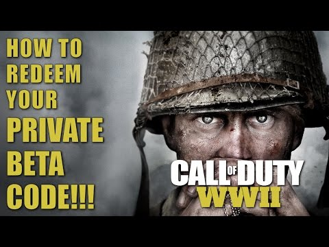 call-of-duty-ww2-|-how-to-redeem-your-private-beta-code!!!-(ps4-/-xbox-one)