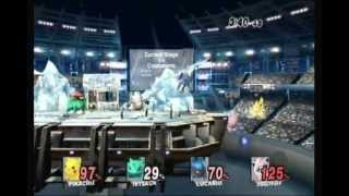 Super Smash Bros. Brawl Battle #4: Pikachu vs. Pokemon Trainer vs. Lucario vs. Jigglypuff