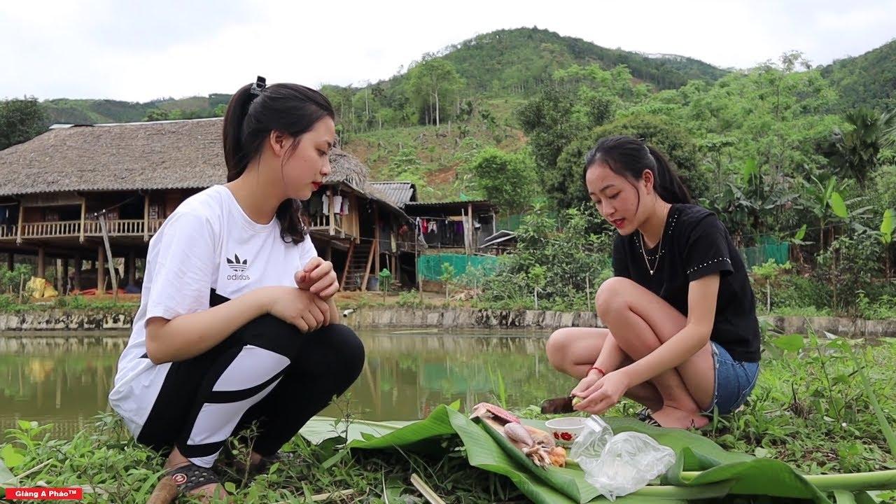 Gà mỏ đỏ nướng - Thèm chảy dãi với món ăn của em Hương và Mai