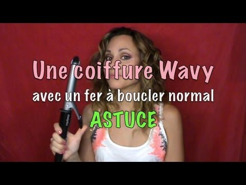 astuce wavy hair avec un fer boucler standard youtube. Black Bedroom Furniture Sets. Home Design Ideas