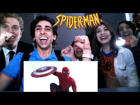 SPIDER-MAN IN CAPTAIN AMERICA CIVIL WAR REACTION