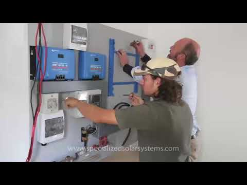 15 kVA 32 kWh per day Victron Off grid Solar Installation