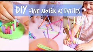 INEXPENSIVE DIY FINE MOTOR ACTIVITIES FOR KIDS
