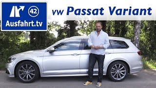 2016 volkswagen vw passat variant 4motion - fahrbericht der probefahrt, test, review