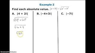 Operations with complex numbers Part 2