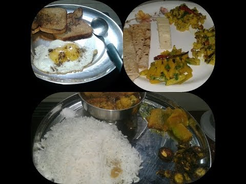 DAILY WHOLE DAY MENU IN A BENGALI HOME