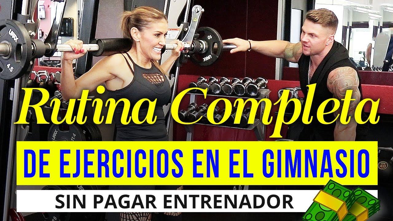 Rutina de ejercicios en el gym sin pagar entrenador