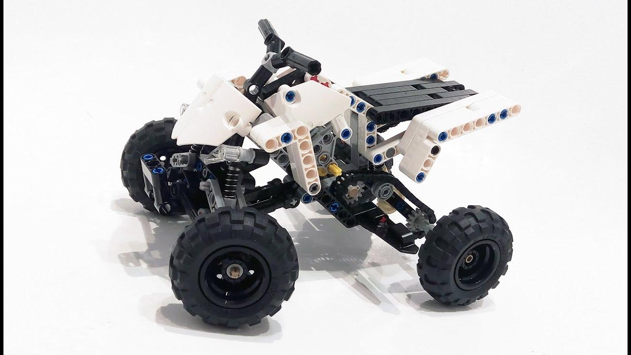 yamaha raptor quad bike lego technic. Black Bedroom Furniture Sets. Home Design Ideas