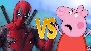 ДЭДПУЛ VS СВИНКА ПЕППА | СУПЕР РЭП БИТВА | Deadpool 2 ПРОТИВ Peppa Pig