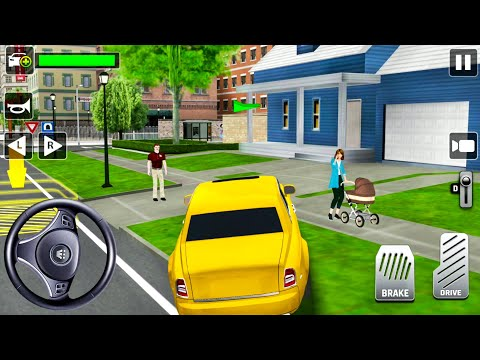 Private City Taxi Driver #9 - Blue Sedan and Yellow Rolls Royce Uber - Android Gameplay