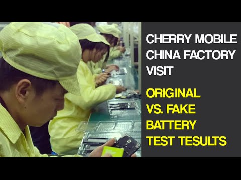 Cherry Mobile China Factory Visit - Original Vs Fake Battery Test Results