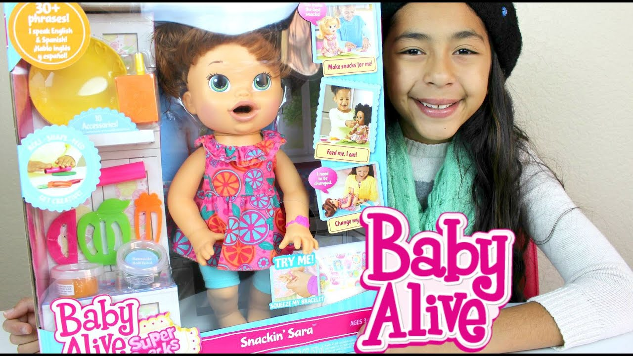 Baby Alive Doll Eats And Poops Play Doh Snackin Sara