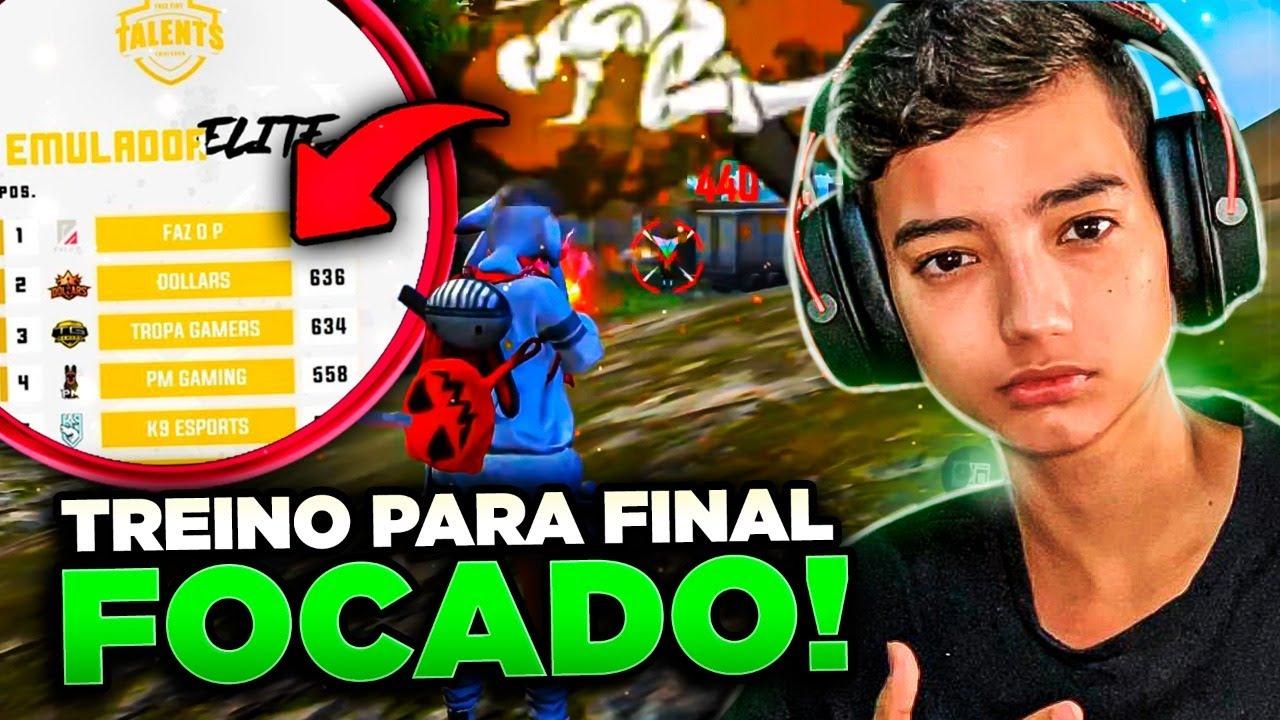 ? FREE FIRE AO VIVO ?  - X TREINO PRA FINAL DA TALENTS FOCADÃO!!!!