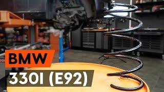 Vgradnja zadaj levi desni Vzmeti BMW 3 Coupe (E92): brezplačne video