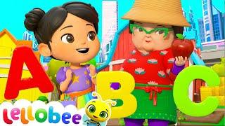 ABC Song Learn Phonics - @Lellobee City Farm - Cartoons & Kids Songs | Kids Cartoons | Moonbug Kids