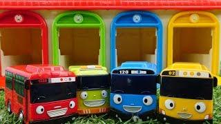 Мультики для мальчиков. Тайо проколол колесо. Видео с игрушками.
