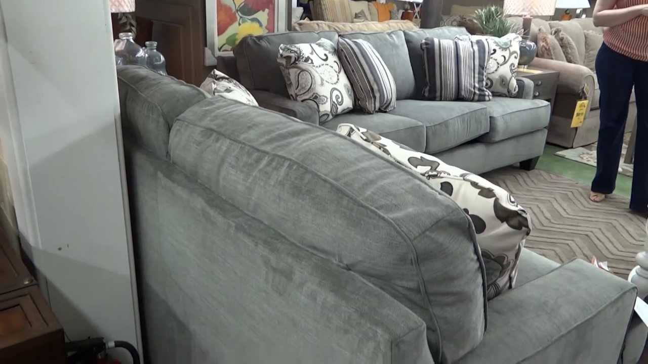 Ashley Furniture Yvette Steel Sofa U0026 Loveseat 779 Review   YouTube