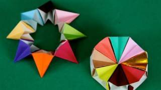 Ruota Corona 8 Pezzi Origami Origami Magic Circle