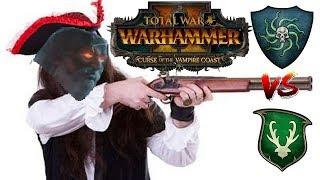 Vampire Coast vs Wood Elves | RANGED DUEL - Total War Warhammer 2