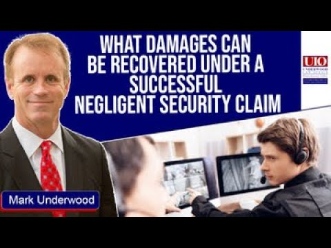 What damages can I recover for successful negligent security claims?