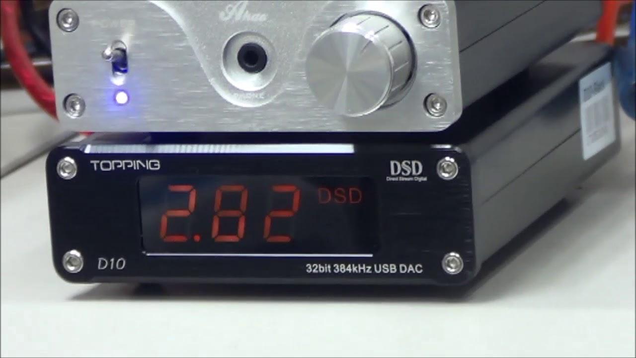 Raspberry Pi 3 x Topping D10 DSD Playback Test by deskfi