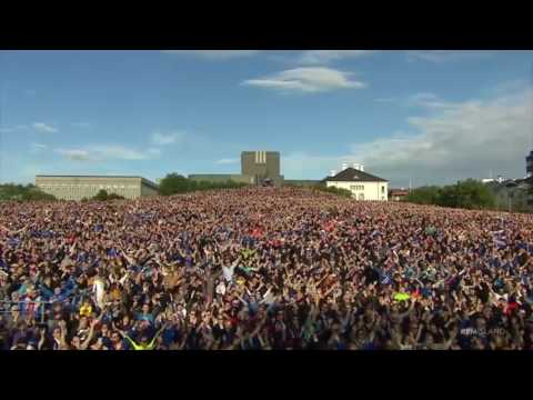 Iceland Euro 2016 Stars Perform Final Viking Clap with Thousands of Fans in Reykjavík