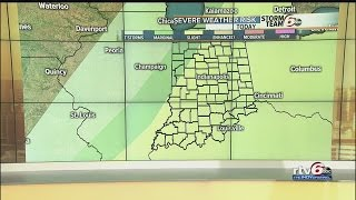 Severe storms possible as cold front moves through