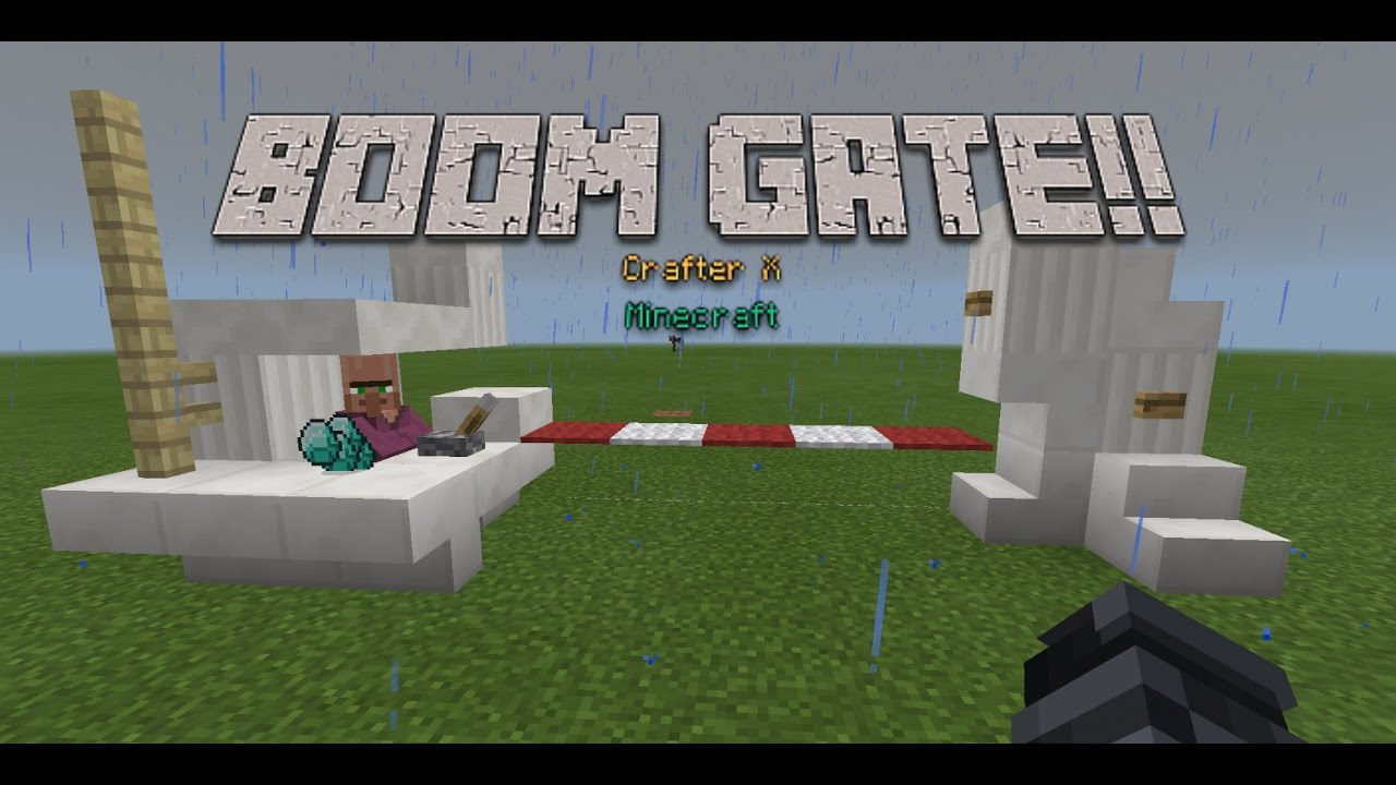 how to make boom gates in minecraft