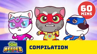 🦸 SUPER HEROIC! ⚡ The Best of Talking Tom Heroes (1 HOUR BINGE)