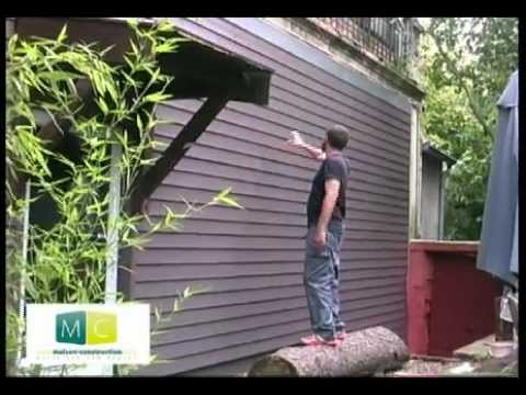 Pose bardage bois laying wood siding on an old facade cladding youtube - Facade maison en bois ...