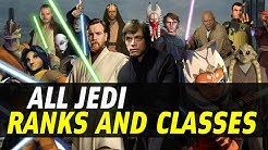 All Jedi Ranks and Classes | Star Wars Legends
