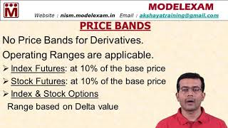 NISM ED - Price Bands & Operating Ranges