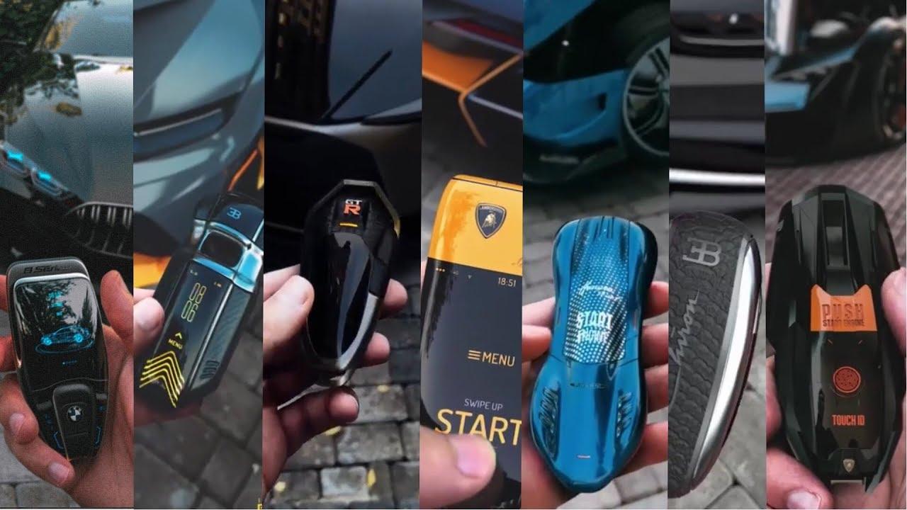 Top 15 Mind Blowing keys Bugatti, Ferrari, Lamborghini, koenigsegg, Maybach, Mclaren... Concepts