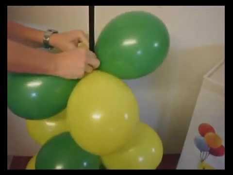Ballons ule mit ballonst nder als luftballondeko bausatz - Luftballongirlande selber machen ...