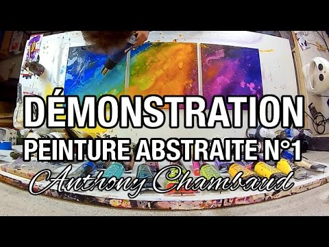 Démonstration peinture abstraite N°1 : Abstract