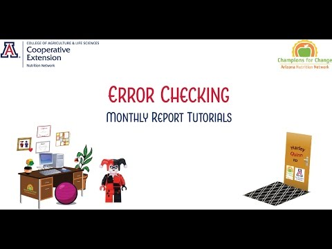 Error Checking (Monthly Report Tutorials)