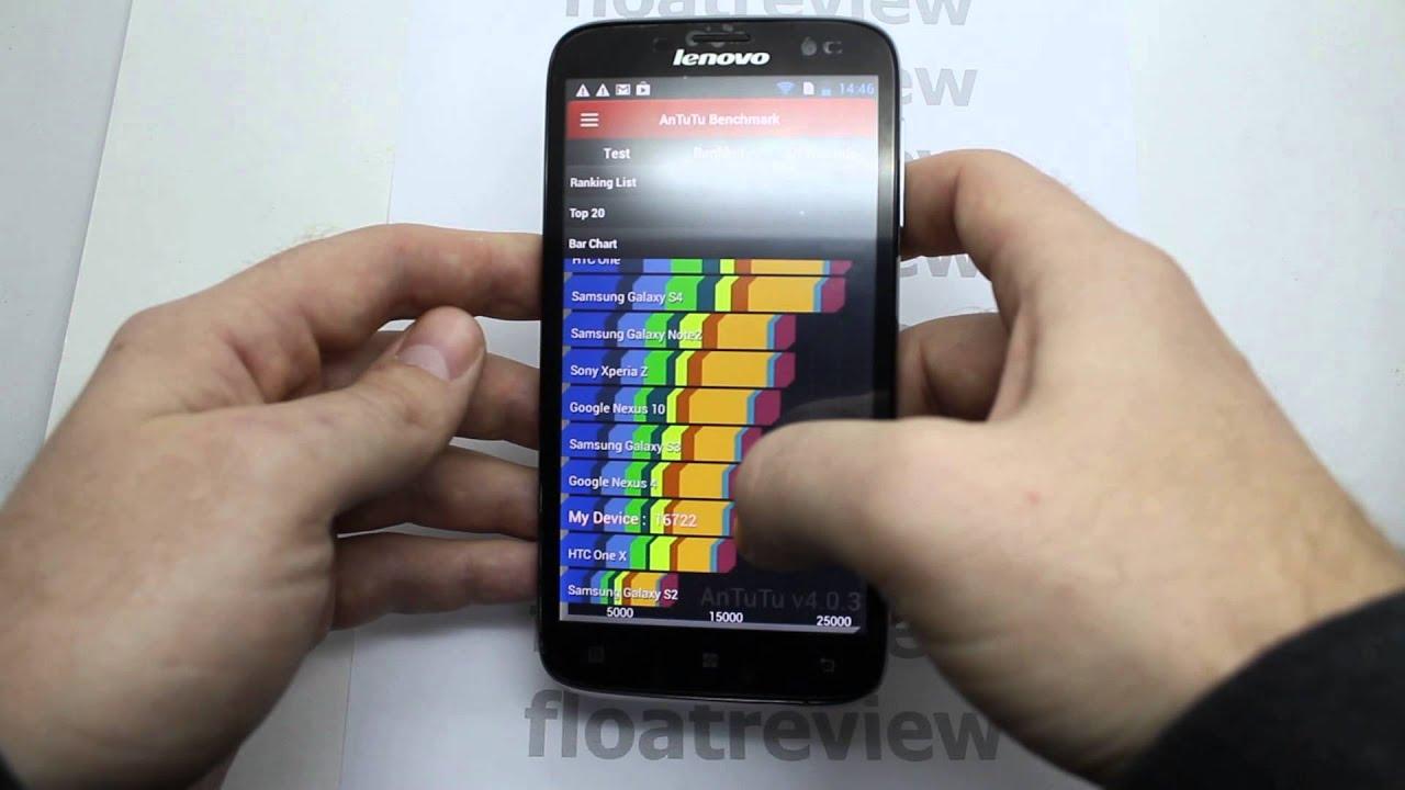 Lenovo A850 обзор MT6582m - YouTube
