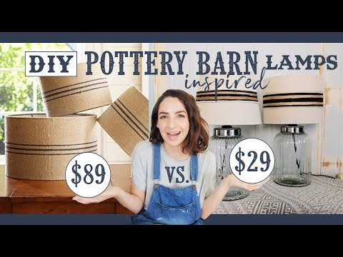 DIY Pottery Barn Inspired Lamps | Get the Look for Less | Farmhouse Style