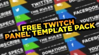 FREE TWITCH PANELS (TEMPLATE) @CptLuckyy