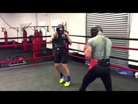 luke jackson boxing champ sparring sick speed - esnews boxing