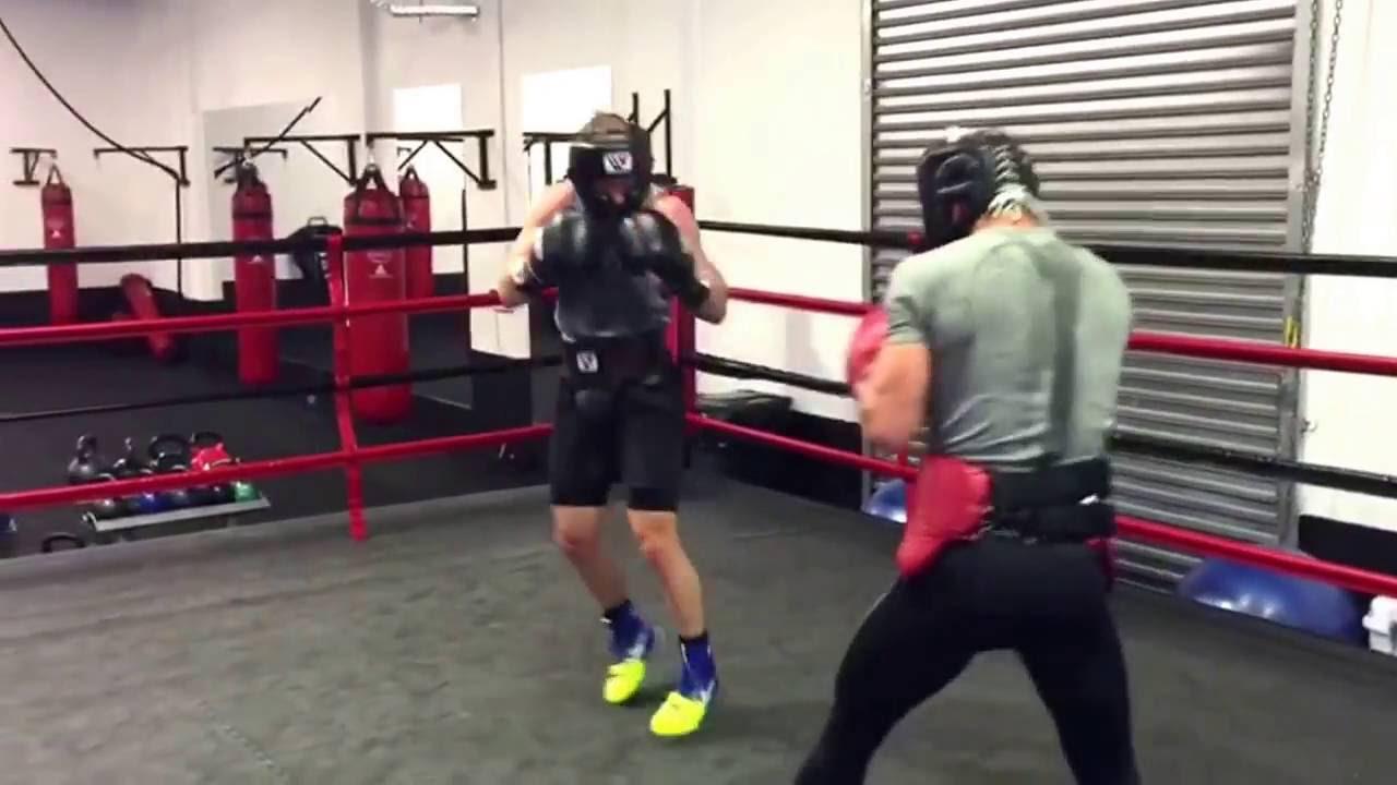 luke jackson boxing champ sparring sick speed esnews boxing