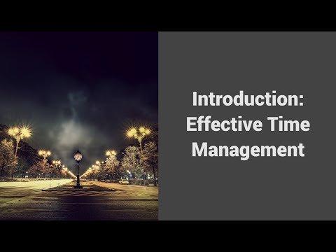 MOOC USSV101x | Effective Time Management | Introduction - Effective Time Management