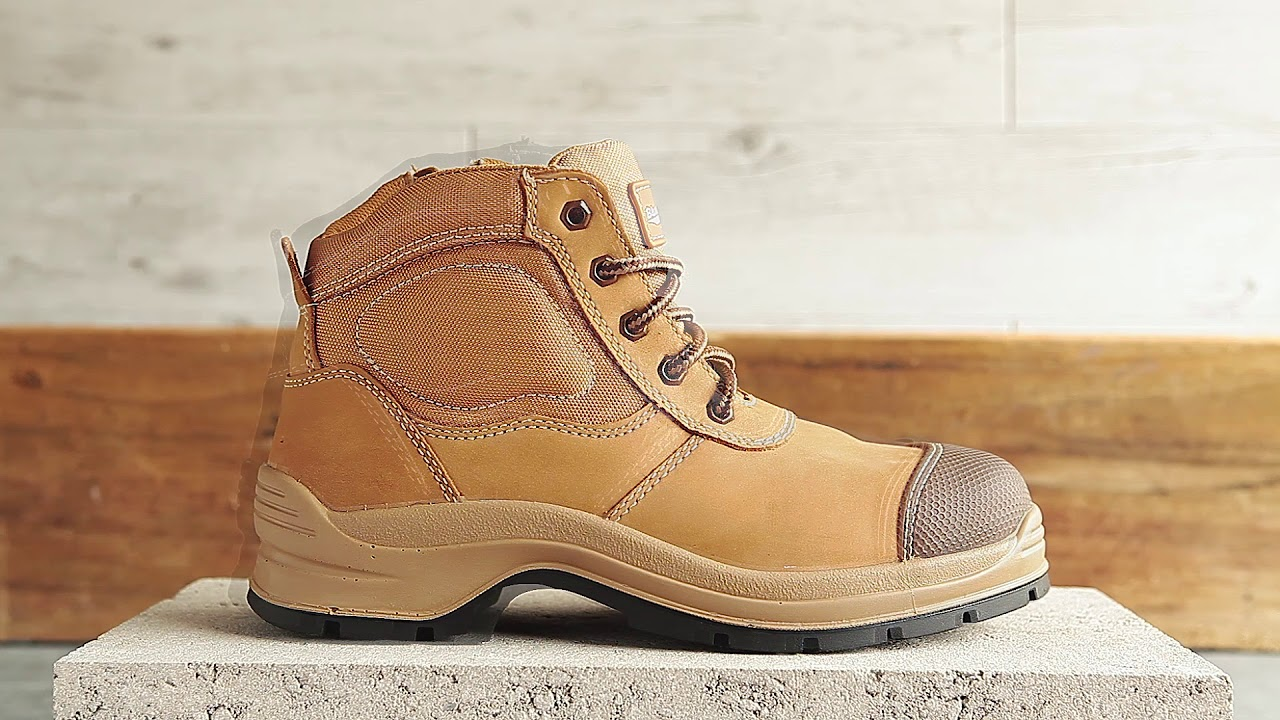 319 Workfit Lace Up Zip Side Boot