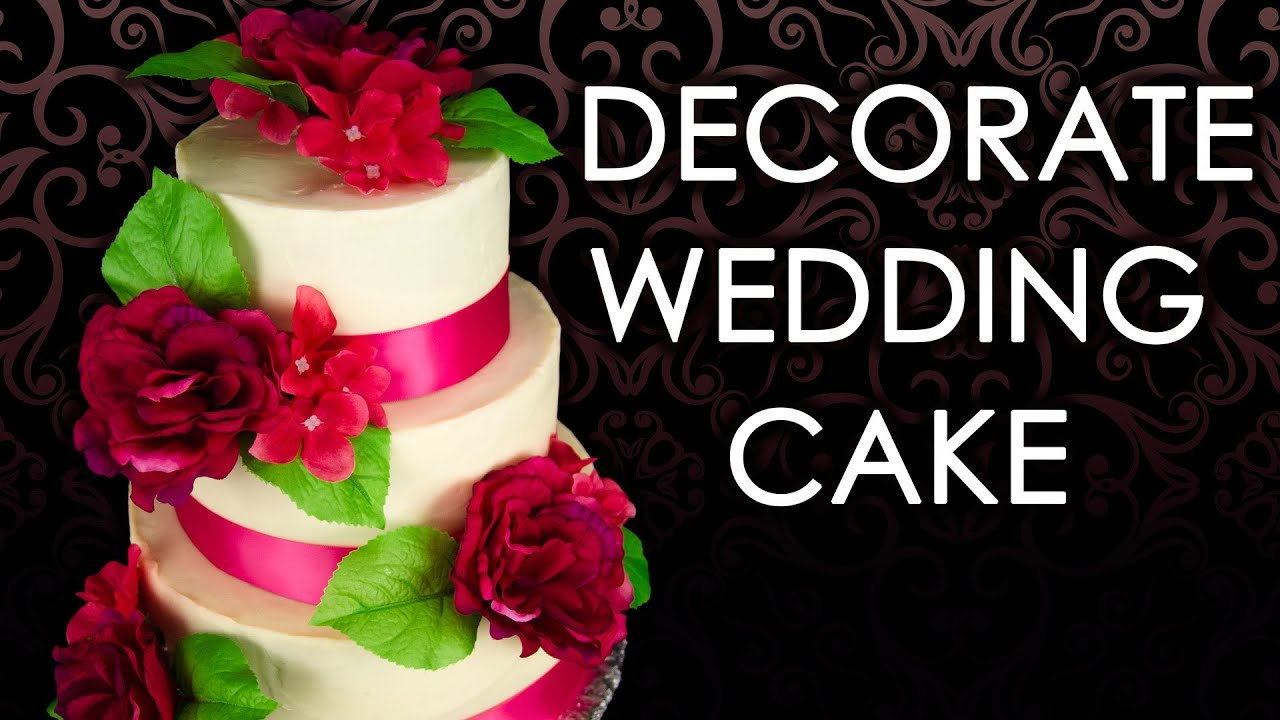 How To Make A Wedding Cake Decorating Part 3 From Cookies Cupcakes And Cardio