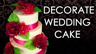 How To Make A Wedding Cake: Wedding Cake Decorating (part 3) From Cookies Cupcakes And Cardio