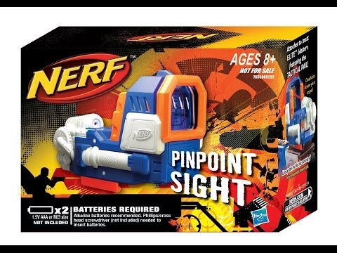 NERF Elite Pinpoint Sight Unboxing and Review