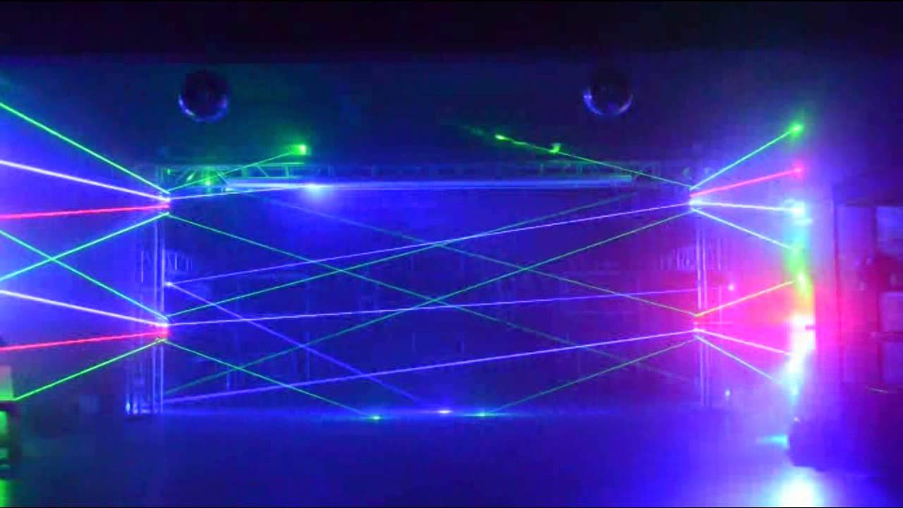 Rgb Spider Moving Head Laser Light Youtube