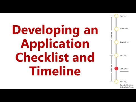 Application Checklist And Timeline
